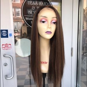 Accessories - Full lace Wig Sale Brown Highlights Long Ponytail